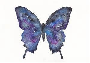 Galaxy Watercolor Butterflies