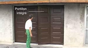 Beau porte de garage sectionnelle jumele avec montage for Porte de garage enroulable jumelé avec montage porte blindée