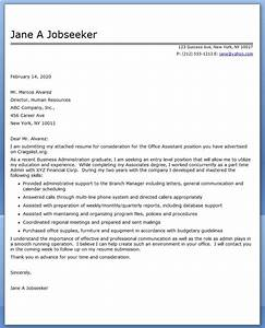 Office assistant cover letter sample resume downloads for Executive assistant cover letter 2014