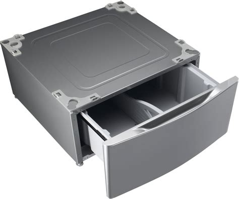 lg pedestal wdp4w lg wdp4v pedestal with drawer graphite steel