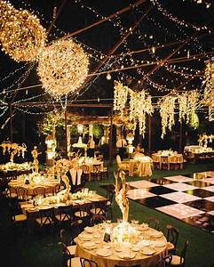 Outdoor wedding lighting ideas from real celebrations for Wedding video lighting