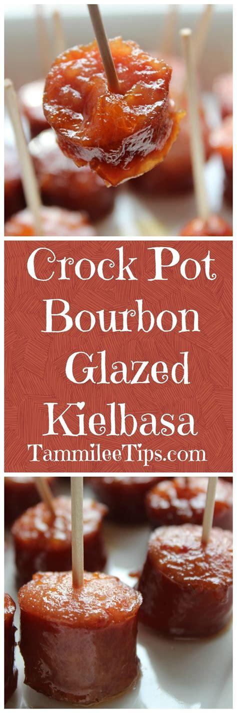 crock pot appetizers crock pot bourbon glazed kielbasa recipe football kielbasa and great appetizers
