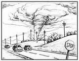 Tornado Disaster Natural Drawing Cartoon Preparing Season Realistic Sketch Illustration Getdrawings Advertisement Close Uisjournal sketch template