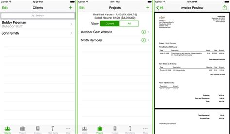 invoice apps  iphone   meet  competitive