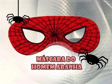 DIY : Máscara do Homem Aranha YouTube