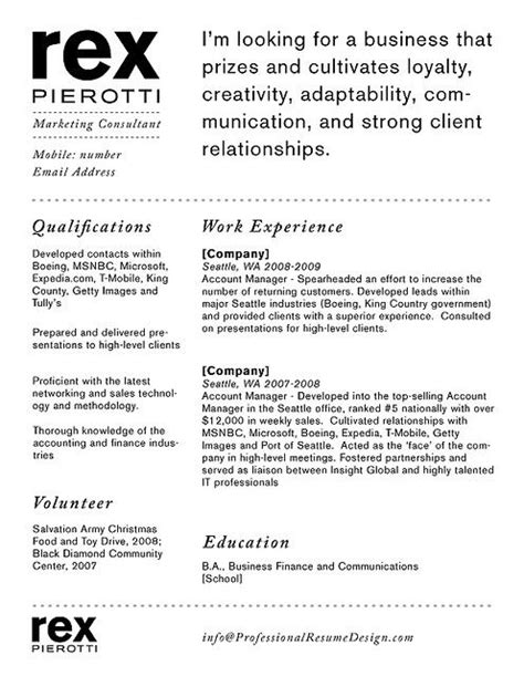 Creative Resume Objective by Strong Logo The Quot Objective Quot Statement Is Emphasized