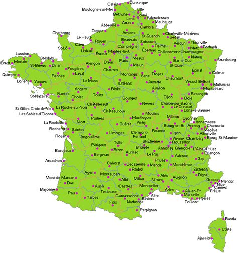 france map towns  cities