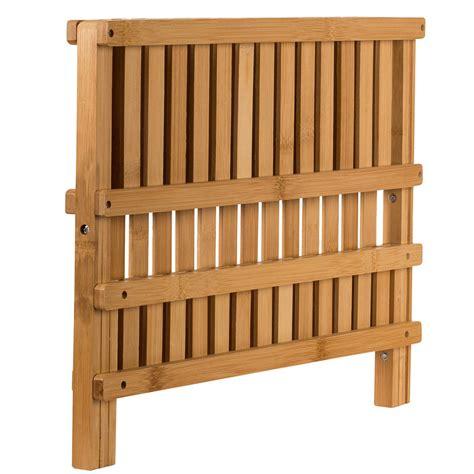 sagler wooden dish rack plate rack collapsible compact dish drying rack bamboo ebay