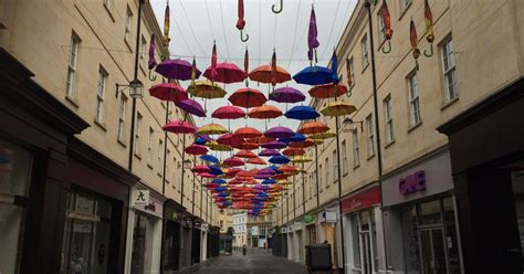 First Southgate umbrellas start to appear - Bath Chronicle