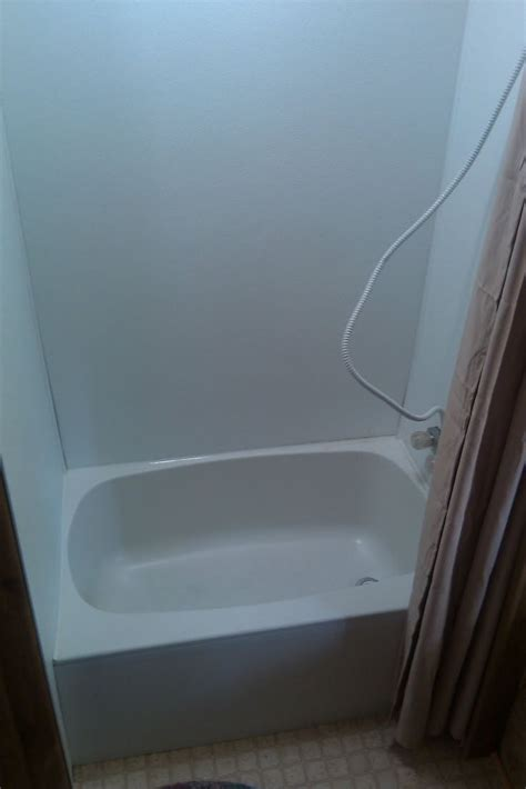 replace  tub  shower walls toilet remodel camper