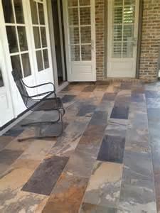 porcelain tile on porch aggressively passive