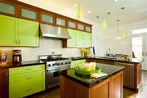 color of the month decorating with bright green abode With kitchen colors with white cabinets with lime green candle holders