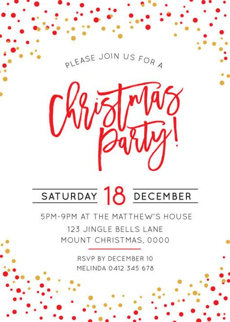 christmas party announcement for work invitations