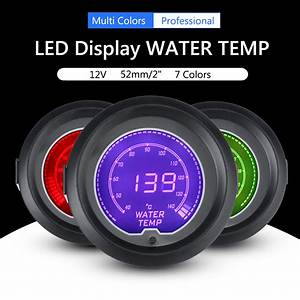 New 7 Colors 2inch 52mm Car Digital Led Light Water