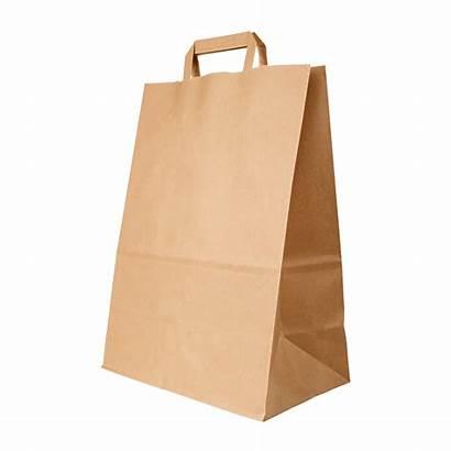 Paper Flat Handle Bag Bags Brown Quote