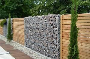Gabionenzaun Mit Holz : diy trockenmauer gabionen steinwand selber bauen ohne ~ Lizthompson.info Haus und Dekorationen