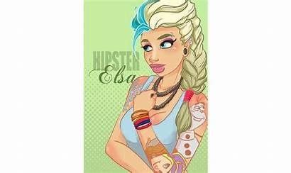 Reimagined Tattoos Princesses Piercings Disney Geekspin Elsa