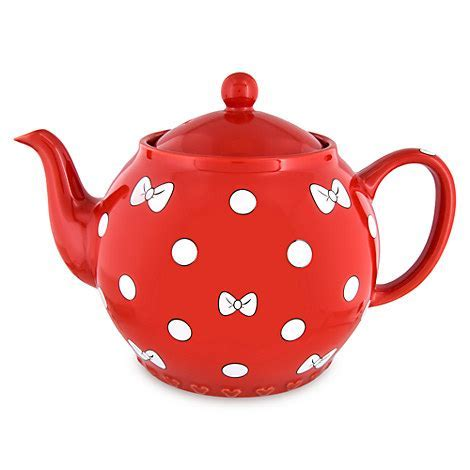 Your WDW Store   Disney Teapot   Minnie Mouse Bow   Red