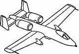 Jet Coloring Pages Airplane Fighter Plane Cartoon Drawing Aeroplane Print Air Ski Colouring Clipart Line Ww2 Aircraft Private Planes Clipartmag sketch template