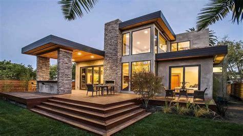 Modern Home Design With Stone  Modern Home Design Ideas