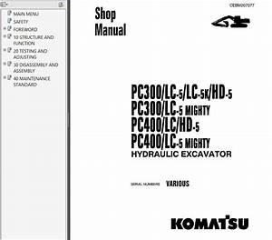 Komatsu Pc300  400