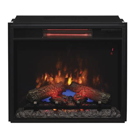 lowes electric fireplace insert shop classicflame 23 74 in black electric fireplace insert