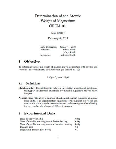 latex templates universityschool laboratory report