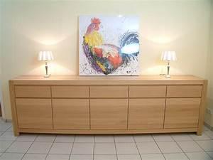 Eiche Massiv Möbel : schermbeck anrichte eiche massiv ge lt oder lackiert mit 5 t ren und 5 schubladen modern ~ Frokenaadalensverden.com Haus und Dekorationen