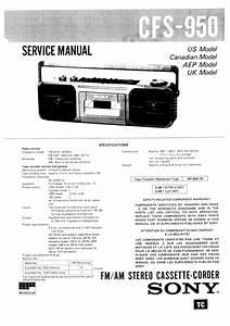 Sony Cfs-950 Service Manual