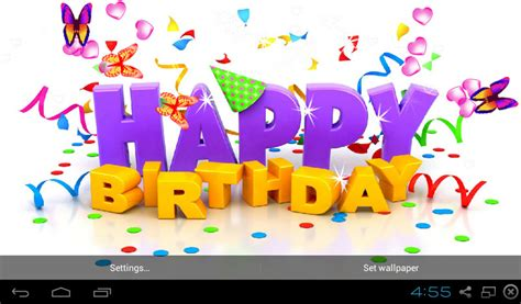 3d Happy Birthday Photo by Free 3d Happy Birthday Live Wallpaper Apk For