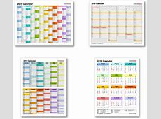 2019 Calendar with Federal Holidays & ExcelPDFWord templates