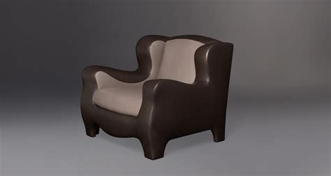 Armchair Covered In Fabric