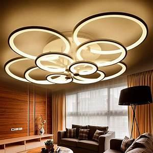 Wohnzimmer Lampe Dimmbar : acryl ring led deckenleuchten wohnzimmer schlafzimmer ~ Watch28wear.com Haus und Dekorationen