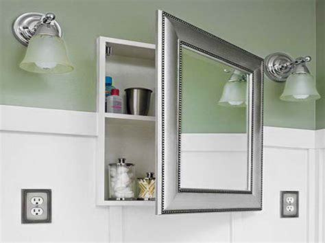 Modern Recessed Medicine Cabinets For Bathroom With Green