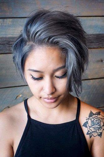 If you are over 50 years old and you're lucky enough to have a thick silver foliage, this classic short cut faded to the sides with this is a medium length cut, smooth and smooth, the gray hair here has a tuft backwards and is a deliberately unkempt hairstyle. 33 Short Grey Hair Cuts and Styles | LoveHairStyles.com