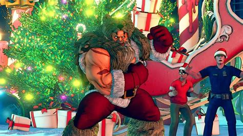 check  street fighter  christmas dlc stage