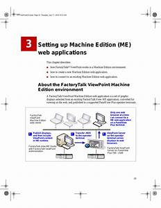 Setting Up Machine Edition  Me  Web Applications