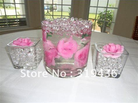 Beautiful Clear Glass Vase Filler Decor Using High Clear