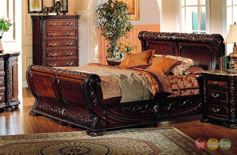 Cannes Sleigh Bed Traditional Luxury Bedroom Furniture