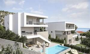 Moderne Häuser Mit Pool : rogoznica moderne villa mit swimmingpool nahe am meer ~ Markanthonyermac.com Haus und Dekorationen