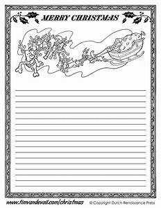 Printable christmas writing paper templates for Christmas paper to write letters on