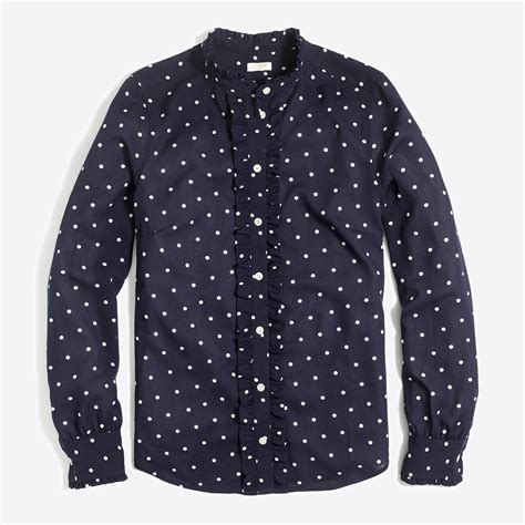 polka dot blouses ruffle front polka dot blouse factorywomen blouses