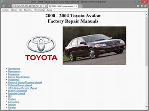 Toyota Avalon  Xx20  - Service Manual