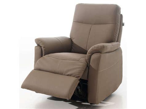 canapé haut dossier fauteuil relaxation manuel tranks coloris taupe en pu