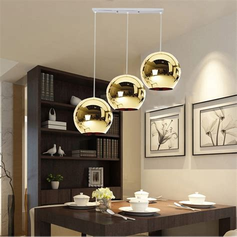 kitchen modern pendant lighting gold glass pendant
