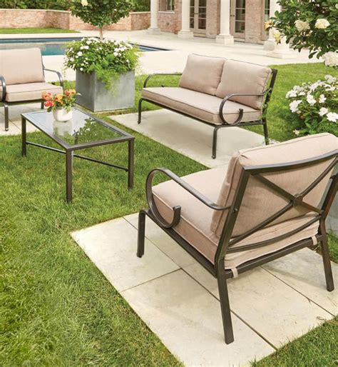 hton bay granbury 4 metal patio seating set with