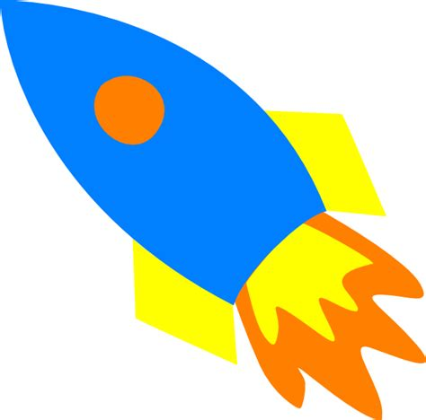 Rocket Ship Clip Blue Rocket Ship Clip At Clker Vector Clip