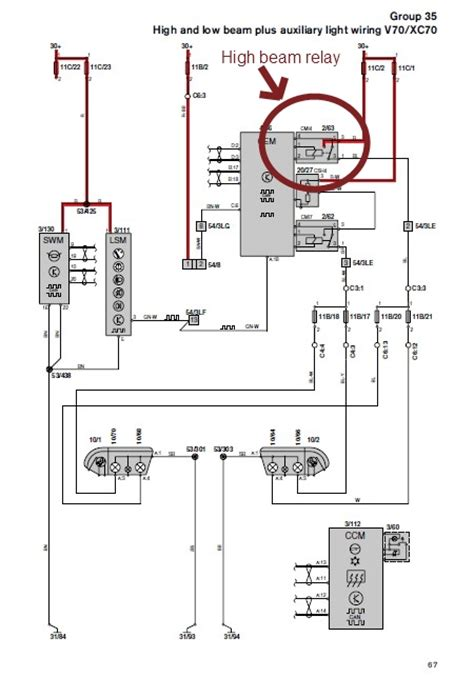 auxiliary driving ls v70 wiring diagram volvo forums