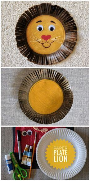 lions garten selber machen paper plate craft basteln pappteller basteln mit pappteller und l 246 we basteln