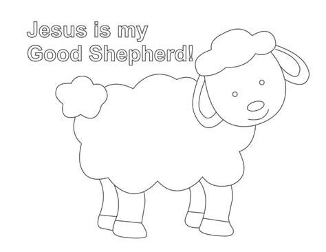 jesus   good shepherd coloring page easy print